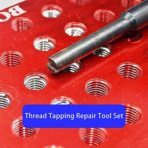 Little Fairy Fang 131PCS Automotive Thread Repair Kit Thread Tapping Repair Tool Set (Tools Scope Mounting)