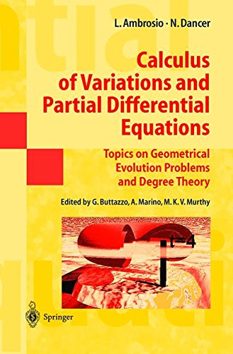 Calculus of Variations and Partial Differential Equations: Topics On Geometrical Evolution Problems And Degree Theory par Luigi Ambrosio