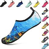 AGOLOD Chaussures Aquatique pour Femme Chaussons de Plage de d'eau avec Lacets...