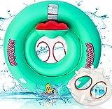 Milidom® Baby Schwimmring I Mitwachsender Schwimmreifen für Babys I Baby Float Kinder ab 12 Monate bis 6 Jahre bis 25 kg