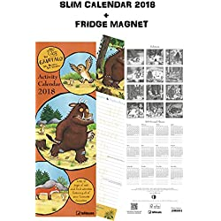 Gruffalo Slim notes calendario 2018 + Celebrity frigorifero