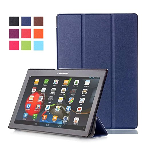 Hülle für Lenovo Tab 2 A10-30 F/L 10.1 Zoll Schutzhülle Etui Tablet Tasche Smart Cover TB2-X30 F/L (Blau) NEU