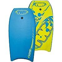 TWF Kid 's XPE Pro EVA–Tabla de bodyboard, color azul y amarillo Slick, 37-inch