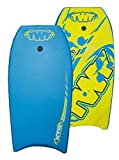 TWF Kid 's XPE Pro EVA – Tabla de bodyboard, color azul y amarillo Slick, 37-inch