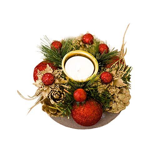 Sammoson decorazione di regali creativi di natale mini candela di pino con decorazioni per la casa - ago di candela rossa a forma di pigne di natale rd