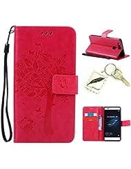 Etui Coque PU Slim Bumper pour Huawei P9 Souple Housse de Protection Flexible Soft Case Cas Couverture Anti Choc Mince Légère Silicone Cover Bouchon -photo Frame Keychain #AG (5)