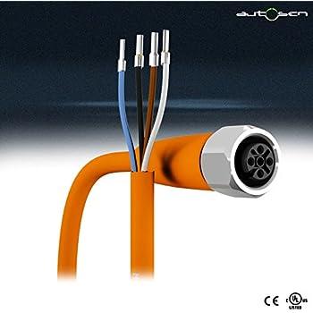 autosen AA027 M12 Sensorleitung abgewinkelt mit 10 m Kabel