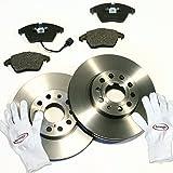 Autoparts-Online Set 60010582 Bremsscheiben Ø 312 mm/Bremsen 1LJ + Bremsbeläge + Warnkabel für Vorne