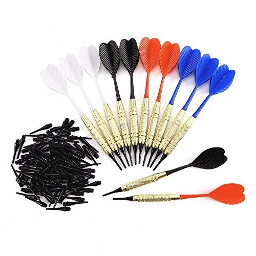 SurePromise 12 Dartpfeile Soft Pfeile Arrow Dartflights 100 Dartersazspitzenfür für Elektronische Dartscheibe
