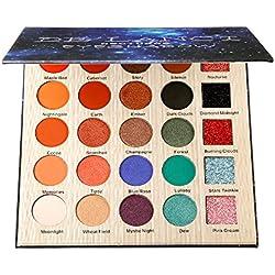 DE'LANCI Palette de maquillage pour les yeux, 5 Glitter et 20 Ombre à paupières Matt & Shimmer, Palette de maquillage hautement pigmentée avec miroir de maquillage