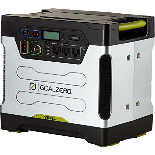 Goalzero Akkumulator Yeti 1250 Solar Generator 220V EURO with Roll Cart and Euro facepalce and cords, silber, 61610