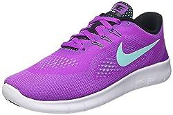 Nike Mädchen Free Run Laufschuhe, Violett (Hyper Violet/Hypr TRQ-Blck-Wht), 38.5 EU