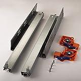1 Paar SO-TECH® FullSlide Schubladenauszüge 400 mm für Holzschublade mit Push-to-Open / Drucköffner