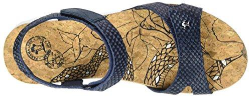 Panama Jack Sulia Snake, Sandales Bout Ouvert Femme Bleu (Navy)