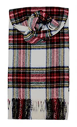 Stewart Dress Modern Brushed Wool Tartan Scarf