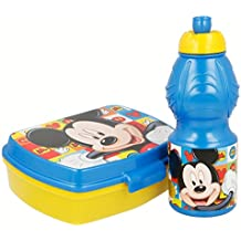 Mickey Mouse Mouse-19076 Set Botella cantimplora Sport y sandwichera (STOR 19076)