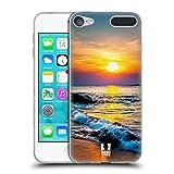 Head Case Designs Farbiger Sonnenuntergang Über Dem Meer Wundevolle Strände Soft Gel Hülle für Apple iPod Touch 6G 6th Gen