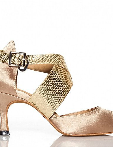 ShangYi Chaussures de danse(Noir / Bleu / Or) -Personnalisables-Talon Personnalisé-Satin / Similicuir-Latine / Jazz / Salsa / Samba / Chaussures Gold