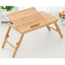 KHSKX Pannello piatto cassetto pieghevole senza sollevamento piccoli tavoli in legno, scrivania del computer notebook letto pigro ,