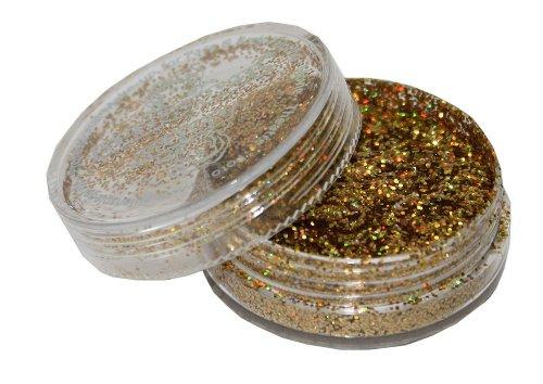 Eulenspiegel 906880 - Polyesterglitzer mittel, Gold Juwel, 6 (Ist Halloween Kostüme Dies)