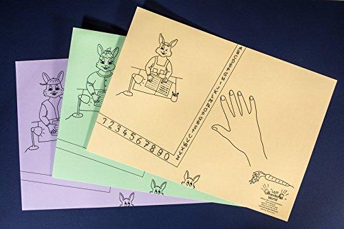 """Linkshänder Schreibunterlagen-Set """"Hasenfamilie"""": Linkshänder erlernen die gesunde Schreibhaltung"""
