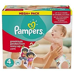 Pampers Windeln Easy up Gr. 4 Maxi 8-15 kg Mega plus Pack, 1er Pack (1 x 96 Stück)
