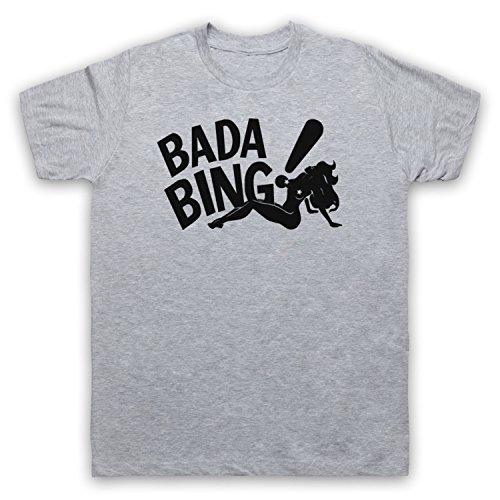 Inspiriert durch Sopranos Bada Bing Logo Unofficial Herren T-Shirt Grau