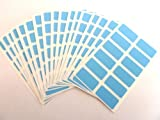 200 Labels , 25x12mm Rectangle , Light Blue , Colour Code stickers , Self-Adhesive Sticky Coloured Labels