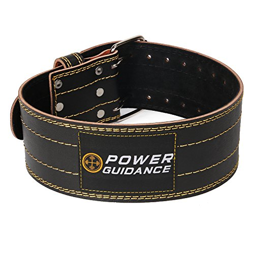 Cintura powerlifting - Cintura pesi vacchetta cuoio - Supporto lombare, supporto posteriore, Powerlifting Belt – ideale per squat, powerlifting, deadlift training (M(65-94cm))