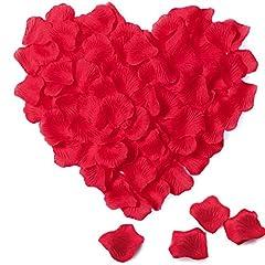 Idea Regalo - Petali di Rosa in Seta – Meersee 2000pcs Petali di Rosa in Seta in Colore Rosso Scuro per Decorazione di Matrimonio