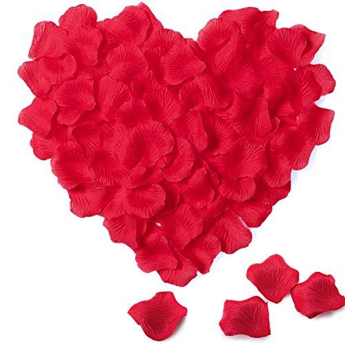 Petali di Rosa in Seta – Meersee 2000pcs Petali di Rosa in Seta in Colore Rosso Scuro per Decorazione di Matrimonio
