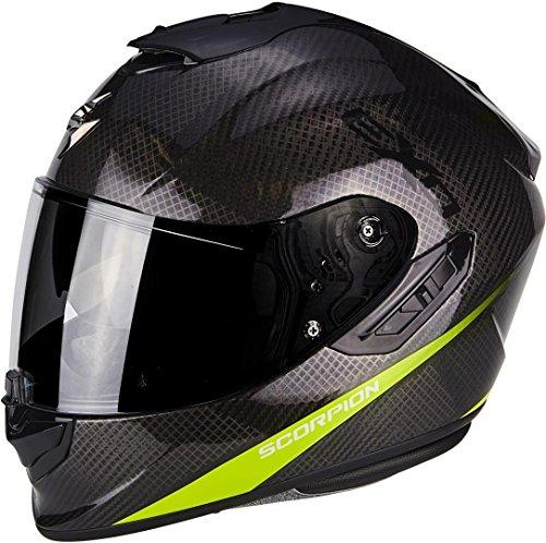 SCORPION Casque moto EXO 1400 AIR CARBON PURE Jaune fluo, Noir/Jaune, XL