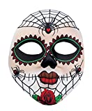 Boland máscara de Miss Dia de los Muertos para Adultos, Color Blanco, Talla única, 97521