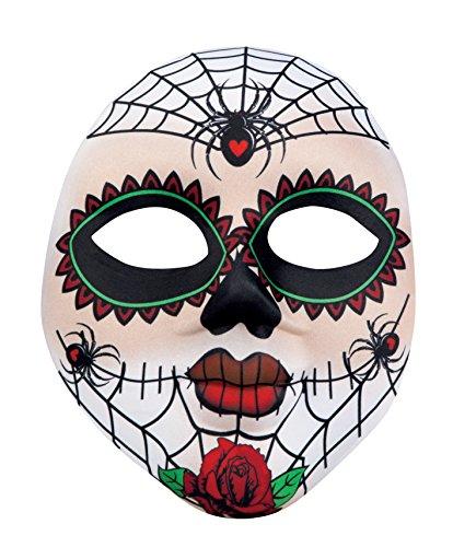 Boland 97521Maske Miss Dia de los Muertos, weiß, Einheitsgröße (Spanische Lady Halloween-kostüm)