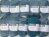 500g Sockenwolle Paket, 10x50g Patons Diploma Gold 4ply Fb. 04203 - petrol , Wollpaket Sockenwolle zum Stricken und Häkeln