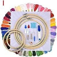 XZYP Punch Aguja De Coser Kit, Punzonado Conjunto Magic Pen Bordado con El Paño, 50 Colores Hilos De Bordar Y Herramientas