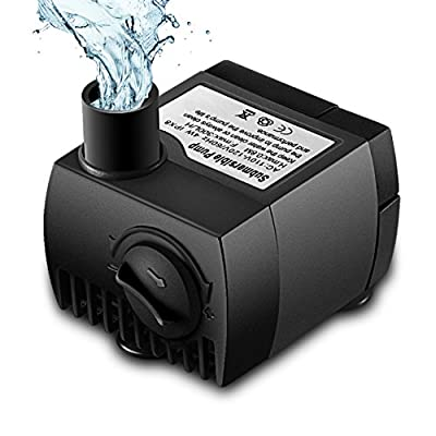 Submersible Water Pump, VicTsing 80 GPH 300L/H Mini Ultra-Quiet Fountain Water Pump, 48 Hours Dry Burning Replacement Pump for Pet Fountain, Aquarium, Pond, Fish Tank, Statuary Water Pump Hydroponics