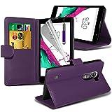 i-Tronixs ( Purple ) LG G4c Case Premium Quality BookStyle