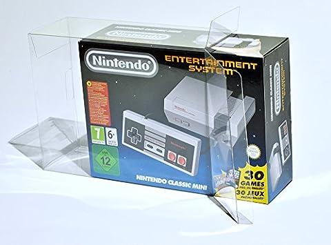 Glacier Games 1 Klarsicht Schutzhülle/ Box Protector für Nintendo Classic Mini: Entertainment System/ NES CLASSIC MINI 0.5 mm PANZERSTÄRKE Originalverpackung Passgenau