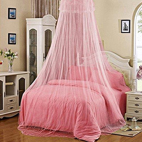 Bluelans® Baldachin Moskitonetz Insektenschutz Fliegennetz Mückennetz für Doppelbetten und Einzelbetten (Rosa)