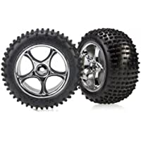 Traxxas 2470R Assembled Tire and Wheel Model Car Parts, Chrome - Compare prices on radiocontrollers.eu
