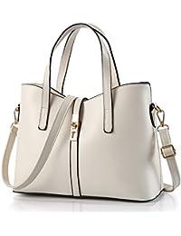 Young & Ming - Color puro Cuero Mujeres Handbag Bolsos de mano Totes Bolsos bandolera Women handbag