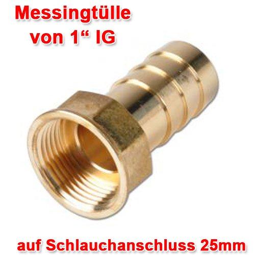 VERBINDUNGSSET für REGENTONNEN inkl. VERBINDUNGSSCHLAUCH 25mm und hochwertige 1-Zoll MESSING – VERBINDUNGSTEILE, REGENTONNENVERBINDER für REGENTONNE und REGENFASS mit 2* WANDDURCHFÜHRUNG - 4