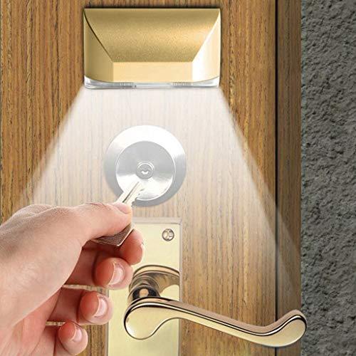 Gold 8 Licht (Gaddrt LED Intelligente Türschloss Kabinett Schlüssel Induktion Kleine Nachtlicht Sensor Lampe LED-Licht 8 x 4 x 3 cm (Gold))