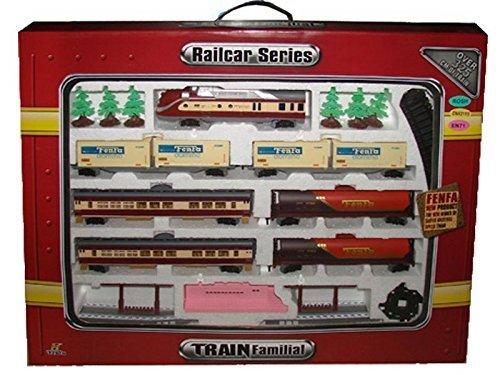 Railcar Series - Interaktive elektrische XXXL Eisenbahn FENFA - VOYAGE (18 Teile) - Skala 1:87 - Realistische Sound- und Lichteffekte