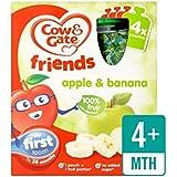 Vache Et Porte La Pomme Et La Banane 100% Fruits Sachets 4 X 90G - Paquet de 2
