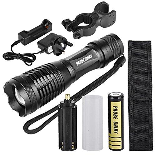 Preisvergleich Produktbild Taschenlampe, bbring Frontleuchten XM-L T6LED Tactical zoombaren Taschenlampe Taschenlampe Lampe Licht + 18650+ Ladegerät