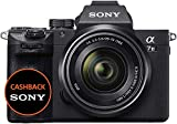 Sony Alpha 7M3 Kit Fotocamera Digitale Mirrorless Full-Frame con Obiettivo Intercambiabile SEL 28-70 mm, Sensore CMOS Exmor Full-Frame da 24.2 MP Retroilluminato, Dual Slot, Nero