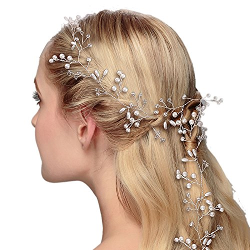 ROKOO Handmade Bride Long Hairband Lady Hair Vine Head Chain Women Headpiece For Wedding Party Photography Hairs Accessories