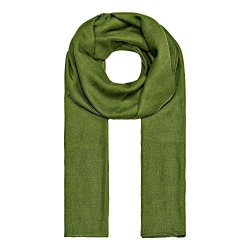 ManuMar Loop-Schal einfarbig | Hals-Tuch in Uni-Farben | einfarbig Gras-Grün als perfektes Sommer-Accessoire | klassischer Damen-Schal - Das ideale Geschenk für Frauen